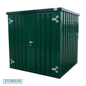 Demontabele Container Donkergroen 4 x 2 enkele deur korte zijde