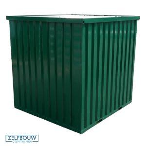 Demontabele Container Donkergroen 3 x 2 dubbele deur korte zijde