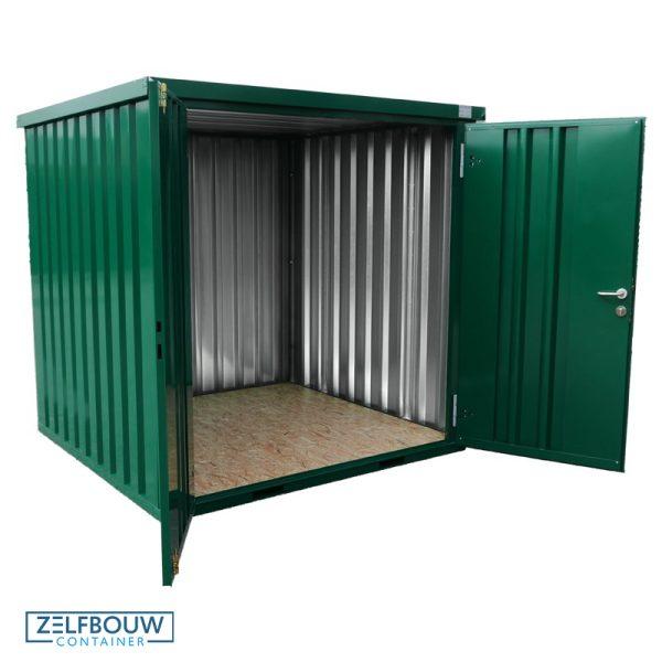 Demontabele Container Donkergroen 3 x 2 dubbele deur lange zijde