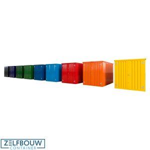 Demontabele Container Geel 4 x 2 enkele deur korte zijde