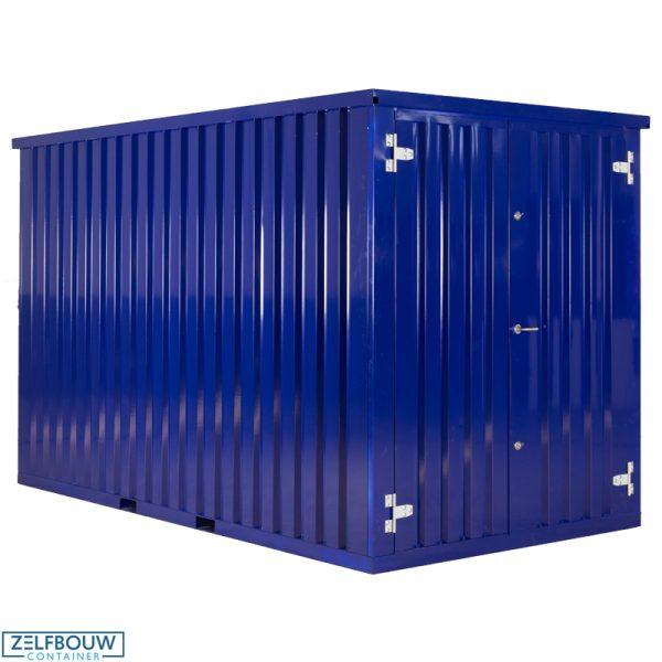Demontabele Container Donkerblauw 3 x 2 dubbele deur korte zijde