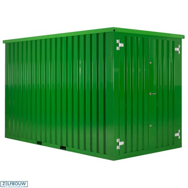 Demontabele Container Groen 2 x 2 enkele deur korte zijde