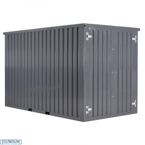 Demontabele Container Grijs 3 x 2 dubbele deur korte zijde