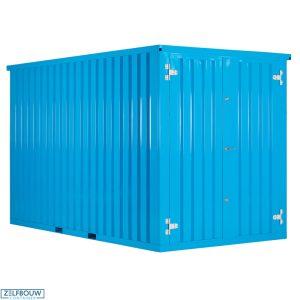 Demontabele Container Lichtblauw 4 x 2 enkele deur korte zijde