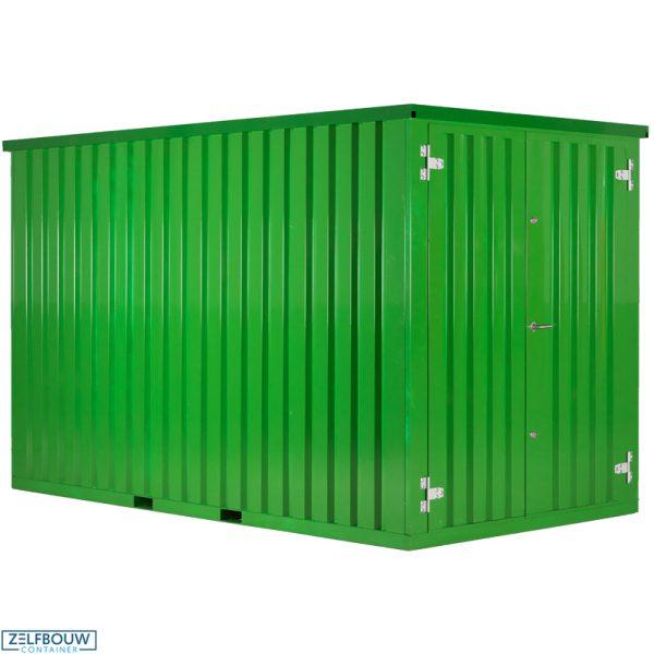 Demontabele Container Lichtgroen 2 x 2 dubbele deur korte zijde