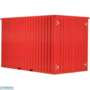 Demontabele Container Rood 2 x 2 dubbele deur korte zijde