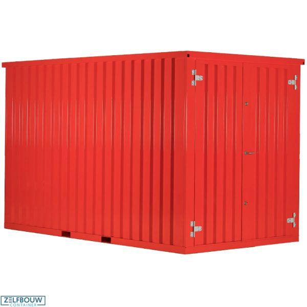 Demontabele Container Rood 3 x 2 dubbele deur lange zijde