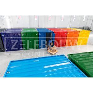 Demontabele Container Lichtblauw 3 x 2 dubbele deur korte zijde