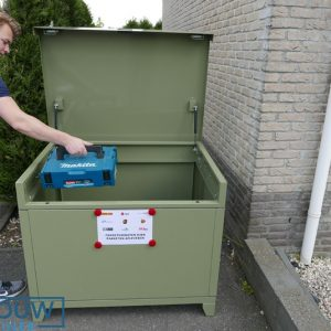 Mobiele box - 500 Liter - In alle RAL kleuren