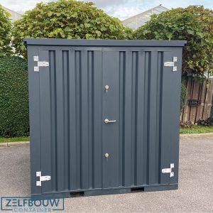 Demontabele Container Antraciet 2 x 2 dubbele deur korte zijde