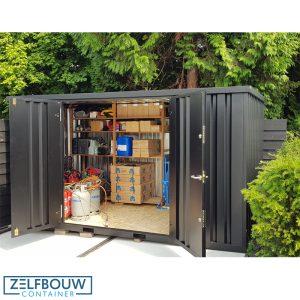 Demontabele Container Zwart 4 x 2 enkele deur lange zijde
