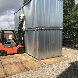 Demontabele Container 6 x 2 enkele deur korte zijde