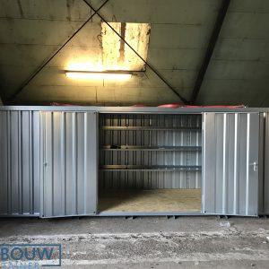 Demontabele Container 6 x 2 enkele deur lange zijde