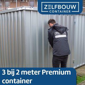 Demontabele Container 3 x 2 enkele deur lange zijde