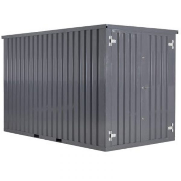 Demontabele Container Grijs 4 x 2 enkele deur korte zijde