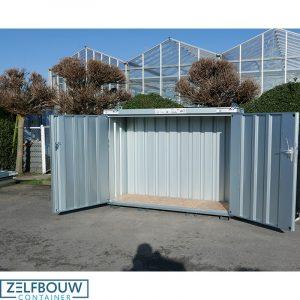 Mobiele container met een dubbele deur