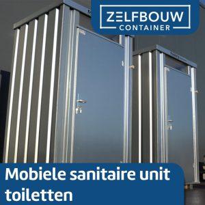 Mobiele sanitair unit 1,4 x 1,25 in kleur