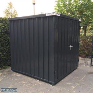Demontabele Container 4 x 2 enkele deur lange zijde in kleur