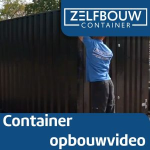 Demontabele Container Blauw 4 x 2 dubbele deur lange zijde