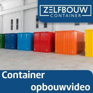 Demontabele Container Donkerblauw 2 x 2 enkele deur korte zijde