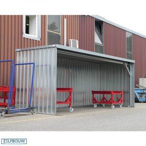 Demontabele fietsenstalling 6 x 2 meter