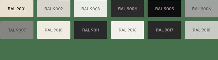 RAL 9 waaier